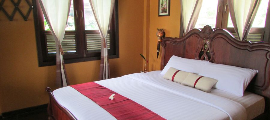 Villa Vang Vieng Riverside Room, Bed